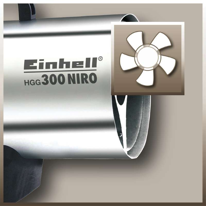 Topení plynové Einhell HGG 300 Niro -4