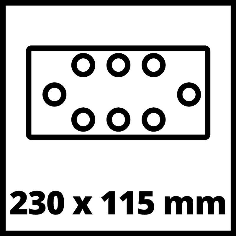 Vibrační bruska Aku TE-OS 18/230 Li Solo Einhell-5