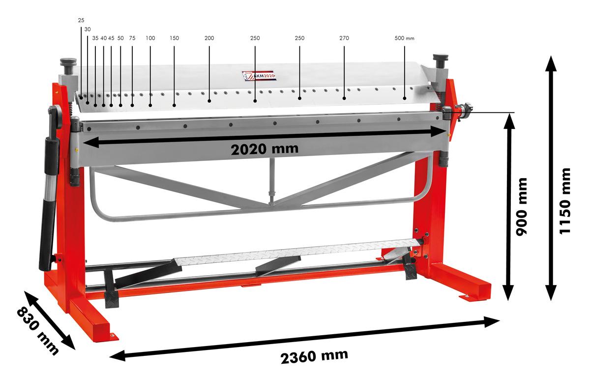 Ohýbačka plechu AKM2020 Holzmann-1