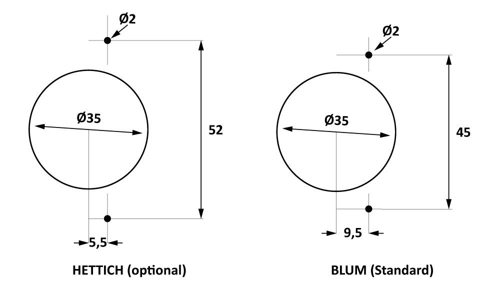 Páková vrtačka pouzder dveřních zámků Holzmann BBM35MAN-1
