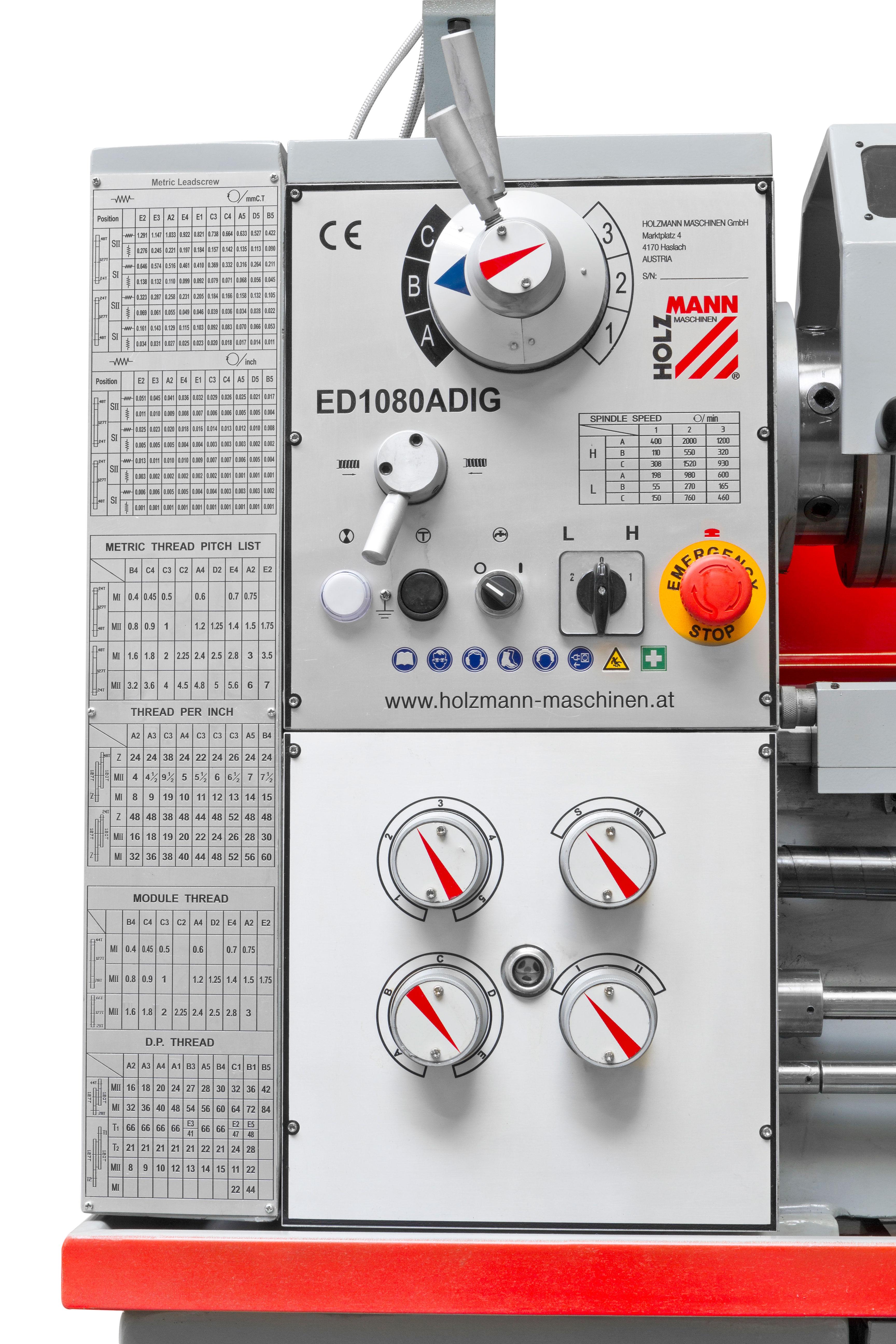Soustruh na kov ED1080ADIG Holzmann-2
