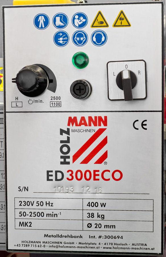 Stolní soustruh na kov Holzmann ED300ECO-3