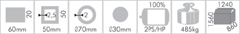 Elektrická ohýbačka trubek Holzmann RBM 40K-1