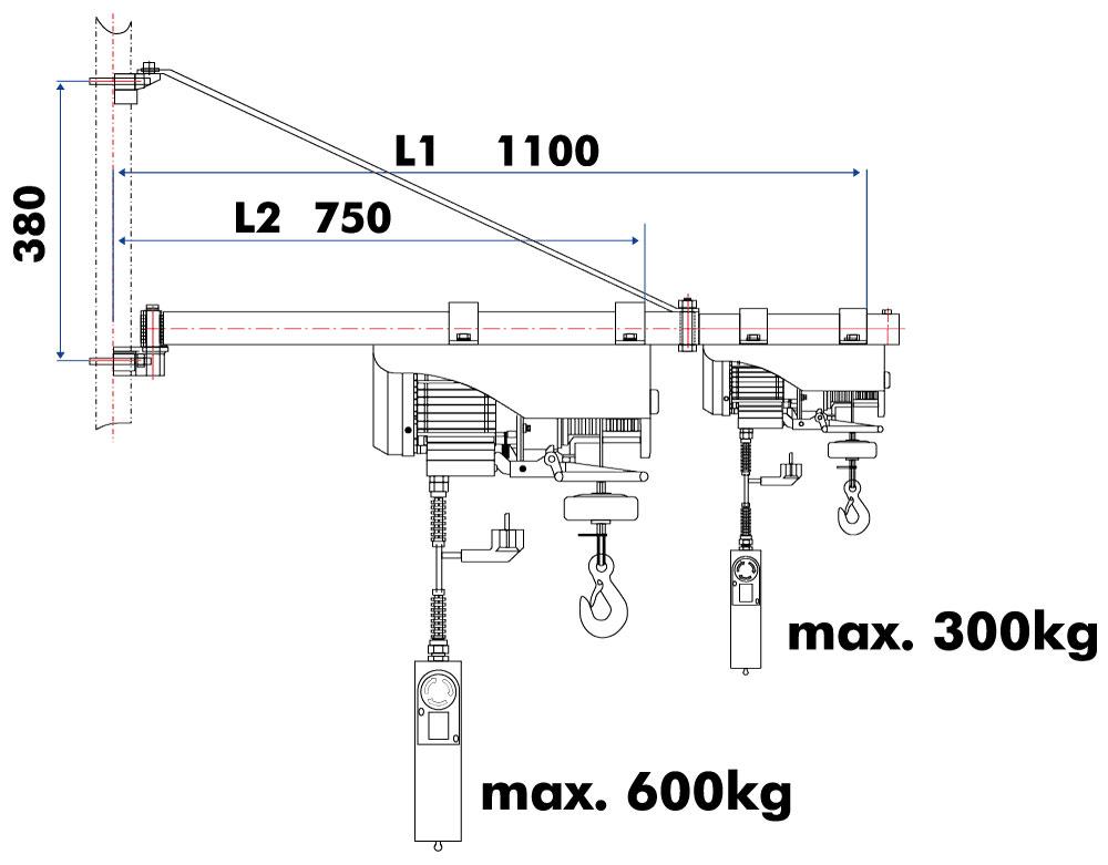 Otočné rameno pro ESZ Holzmann SA3001100-1