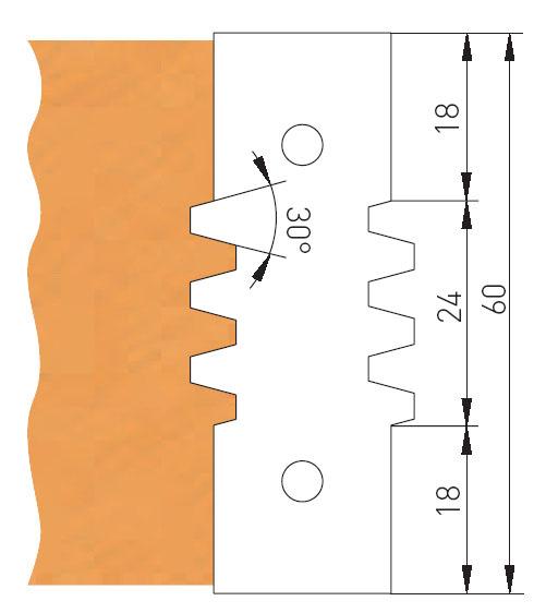 Trapézová spojovací fréza Holzmann TVF130 -1