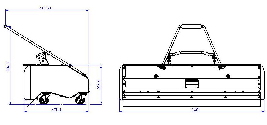 Motorový zametač ZI-KM1000 Zipper-4